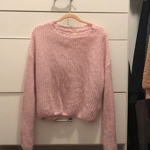 Pink forever 21 cropped sweater